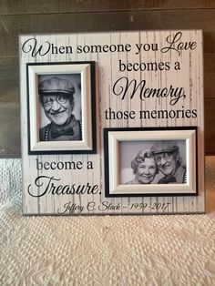 Fun DIY craft projects for any time of the year. Feb Our favorite DIY projects Condolence Gift, Sympathy Gifts, Craft Gifts, Diy Gifts, Homemade Gifts, Picture Frame Crafts, Picture Frames, In Memory Of Dad, In Memory Gifts