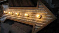 Arrow Light Corrugated Galvanized Tin with Barn by AkersCreations, $135.00