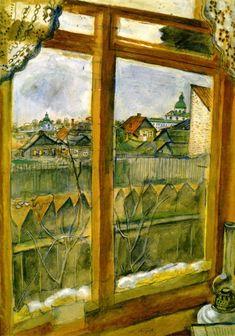 Marc Chagall - View from a Window (Vitebsk)  https://www.artexperiencenyc.com/social_login/?utm_source=pinterest_medium=pins_content=pinterest_pins_campaign=pinterest_initial