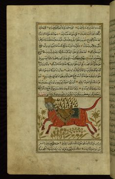 Burāq (the Prophet Muḥammad's horse)  Wonders of Creation  by Qazwīnī 1293 was translated to Turkish in 1717  completed by Rūzmah-ʾi Nāthānī - W659