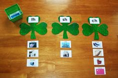 Hands on learning activities with a St. Patrick's Day theme.