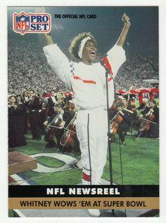 Whitney Houston # 350 - 1991 Pro Set Football