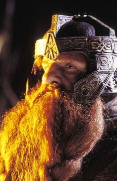 "The Fellowship: GIMLI. ""Faithless is he who says farewell when the road darkens."""