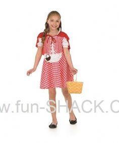 Red Riding Hood Fancy Dress Costume Fun Shack