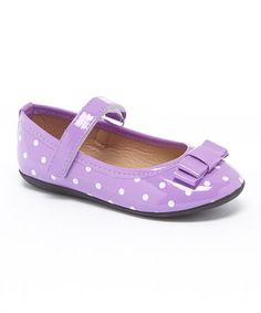 Another great find on #zulily! Purple Polka Dot Mary Jane by Ositos Shoes #zulilyfinds