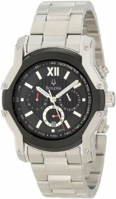 Bulova Men's 98B149 Wintermoor Steel and Black Ion Case Watch Bulova. $145.00. Water-resistant to 99 feet (30 M). Black dial. Stainless steel case and bracelet. Flat mineral crystal. Quartz chronograph movement. Save 68%!