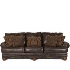 Bernhardt Living Room Foster Leather Sofa 031220