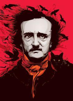 heavygraffic:  Edgar Allan Poe portrait by Cristiano Siqueira