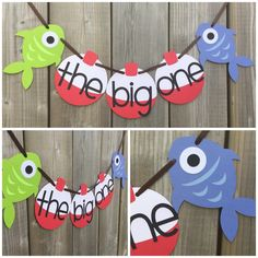 the big one fish and bobber banner, fish high chair banner, fish cake smash banner, fish banner, gone fishing banner, gone fishing themed by lilcraftychickadee on Etsy https://www.etsy.com/ca/listing/599880860/the-big-one-fish-and-bobber-banner-fish