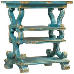 Hooker Furniture Sanctuary Wood Rectangle Accent Table