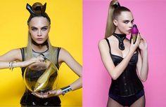 Cara Delevingne con Karl Lagerfeld para Melissa