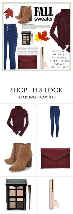 """Fall Sweater"" by nevaehkern ❤ liked on Polyvore featuring Aéropostale, New Look, Nine West, Rebecca Minkoff, Bobbi Brown Cosmetics, Beautycounter, autumn, contestentry, fashionset and falltrend"