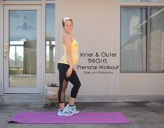 Pregnancy Exercises For The thighs & butt. Lots of great diet and workout tips for #PREGNANCY in this post.