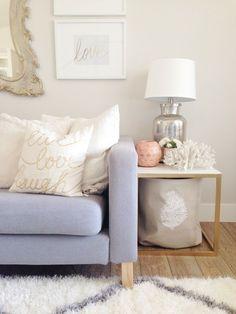 Colores neutros y pasteles para darle un ambiente cozy a tu living