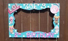Birthday, Baby Shower, Wedding, LOL Surprise Dolls or any theme you want Party Photo Prop Frame 5th Birthday Party Ideas, 7th Birthday, Surprise Birthday, Surprise Baby, Surprise Ideas, Party Fotos, Party Frame, Photo Frame Prop, Photo Booth