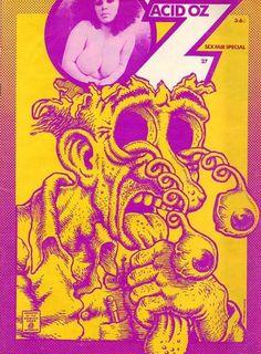 Oz Magazine: Acid OZ Cartoon by Robert Crumb. Robert Crumb, Rock Posters, Concert Posters, Music Posters, Art Posters, Vintage Posters, Psychedelic Design, Psychedelic Posters, Potpourri