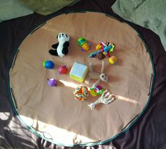 Tapis de jeu nomade - Sac à jouets [tutoriel]