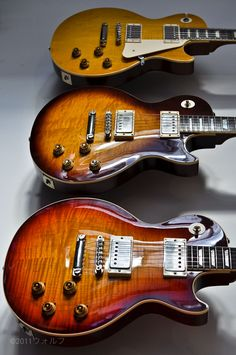 Les Paul electric guitars