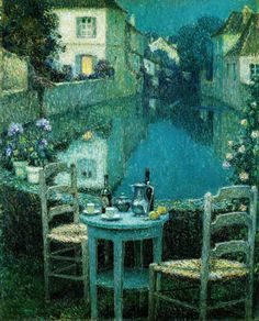 Henri Le Sidaner - Small Table in Evening Dusk (1921) - Google Search