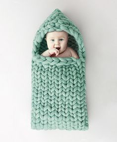 Baby Sleep Bag Knit Merino Wool 21 microns. Newborn Sleep Bag Case knitted Photography Photo PROP. For the baby age 0-3 months