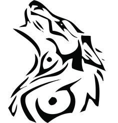 Tatuajes de lobos tribales - Cuerpo y Arte                                                                                                                                                     Más