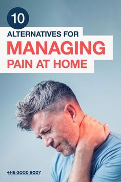 Looking for easy non-medicinal ways to help manage your ongoing pain at home? Take a look at this list of 10 pain alternatives to consider! Natural Pain Relief, Pain Management, Nice Body, Medicine, Alternative, Medical
