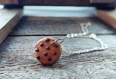 Check out this item in my Etsy shop https://www.etsy.com/listing/526219044/chocolate-chip-cookie-necklace