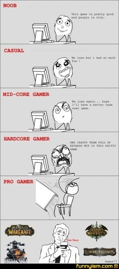 Lol! I'm mid to hard core i guess for world of warcraft ;)