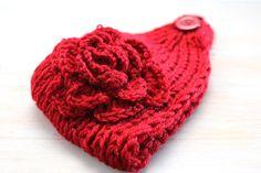 Flower Crochet Head Warmer