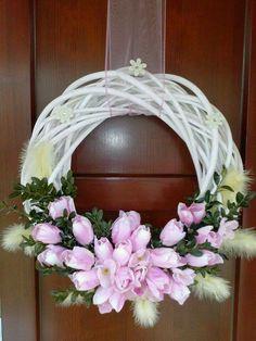 Easter Wreaths, Holiday Wreaths, Christmas Decorations, Wreath Crafts, Diy Wreath, Diy Ostern, Summer Wreath, Spring Wreaths, How To Make Wreaths