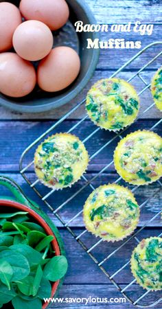 Bacon and Egg Muffins (gluten and grain free) - www.savorylotus.com