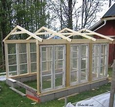 Bilderesultat for greenhouse made from old windows