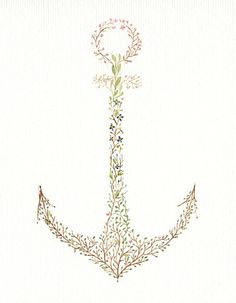 Cool concept of an anchor tatt. Probably won't do this one exactly but would add some different size flowers to the mix