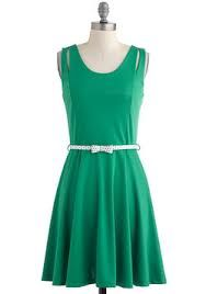 green dress, for any day wear or for a holiday party!