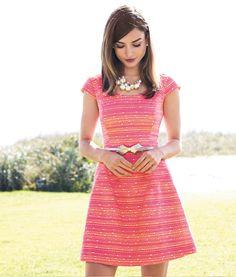 Lilly Pulitzer Spring '13- Rylan Dress in Neon Pink Metallic Boucle