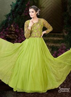 Amazing Sequence Work Net Fabric Gown