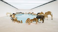 99 animals flock together for cai guo-qiang exhibition - designboom | architecture