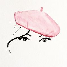 La parisienne #parisienne #paris #barret #eyes #pink #hat #beauty #makeup #illustration #fashionillustration #fashion #illustrationgram #fashiongram #fashionblog #fashionista #fashiondesign #fashionblogger #drawing #painting #watercolor #sketch #art #artstagram #couture #style #glamour