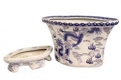 Oriental Furnishings - Fluted Blue