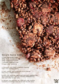 A Table for Two: Billy's 'Best In Show' Rocky Road Recipe