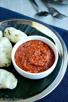Chilly Tomato Chutney / Spicy Tomato Garlic Chutney