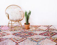 Vintage Moroccan Boucherouite Rug The Jaymes Rag by LoomAndField