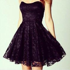 Purple and black dress