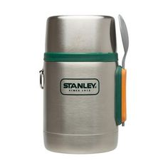 Stanley Adventure Vacuum Food Jar with Spork.  Keeps your grub hot for 6+ hours.