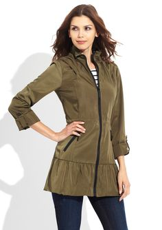 Perfect for cool nights Funnel Neck, Bcbgeneration, Designer Collection, Parka, Military Jacket, Hooded Jacket, Rain Jacket, Windbreaker, How To Wear