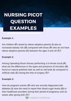 What are good nursing research questions