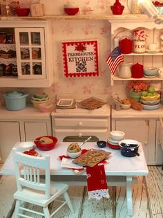 Farmhouse Kitchen Canvas Sign Miniature scale by RibbonwoodCottage