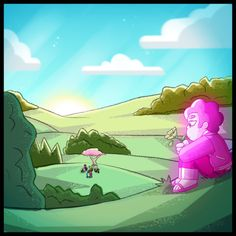 "boy-with-the-pink-hair: "" Another one for SU AU Gone Wrong. The inevitable aftermath scene. And Pink!Steven can't even bring himself to attend his own funeral, so he mourns his other half in his own way. Closeup of the funeral: I got a. Steven Universe Drawing, Steven Universe Movie, Universe Art, Desenhos Cartoon Network, Steven Univese, Gone Wrong, Fanart, Comic Artist, Pictures Of You"