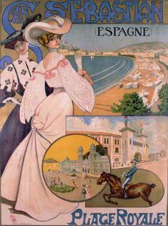 San Sebastián. Spain Travel Poster