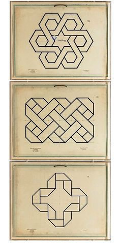 """""""late 19th c. geometry studies"""" I want this pattern as a band on my arm"""